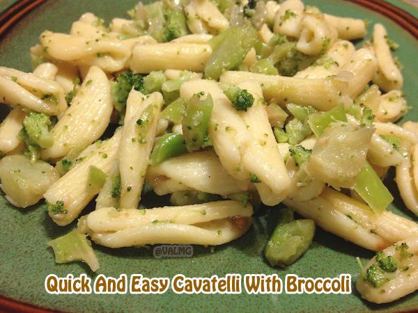 Quick And Easy Cavatelli With Broccoli