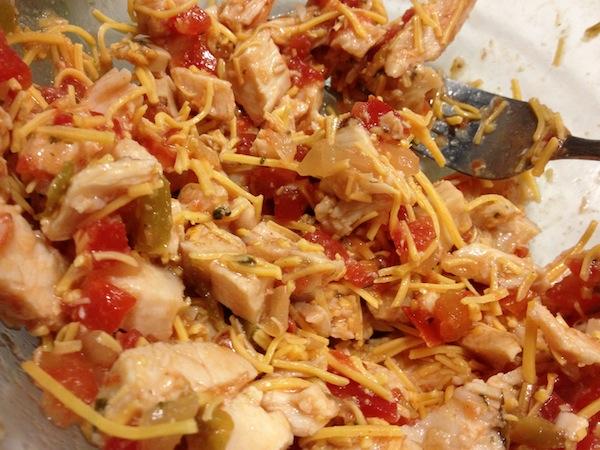 Cheesy Chicken And Salsa Egg Rolls recipe