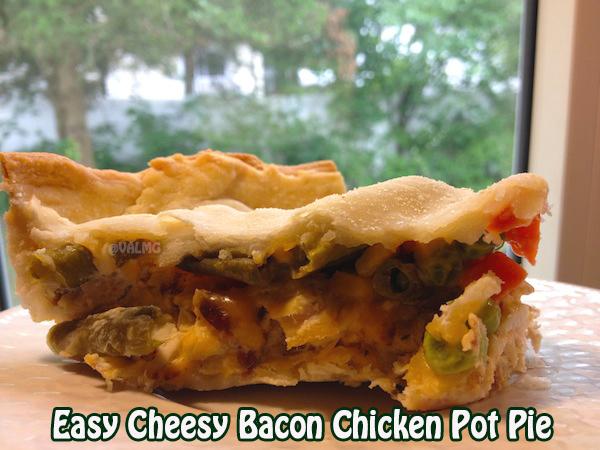 Easy Cheesy Bacon & Chicken Pot Pie