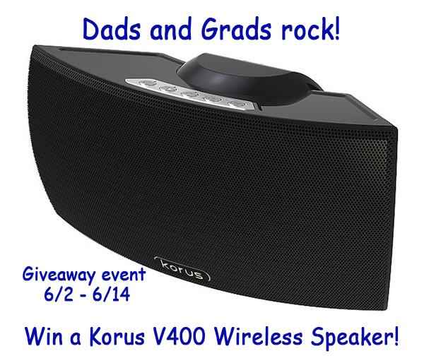 Korus V400 Speaker Giveaway Button