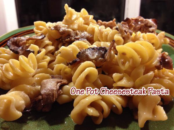 One-Pot Cheesesteak Pasta recipe