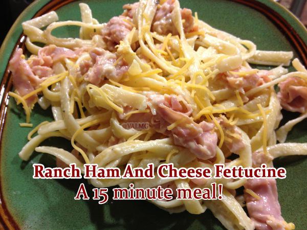 Ranch Ham And Cheese Fettucine Recipe