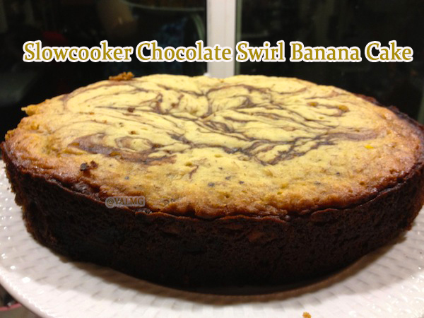 Slowcooker Chocolate Swirl Banana Cake recipe