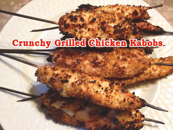 Crunchy Grilled Chicken Kabobs