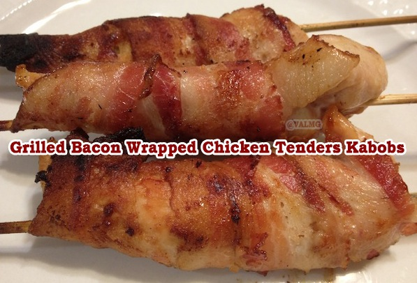 Grilled Bacon Wrapped Chicken Tenders Kabobs recipe