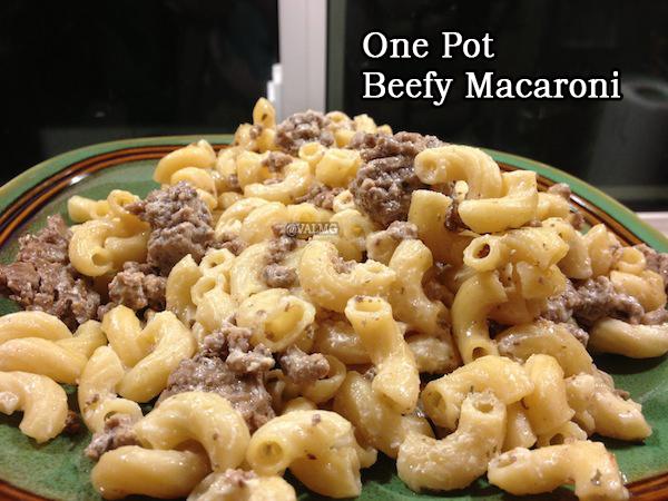One Pot Beefy Macaroni