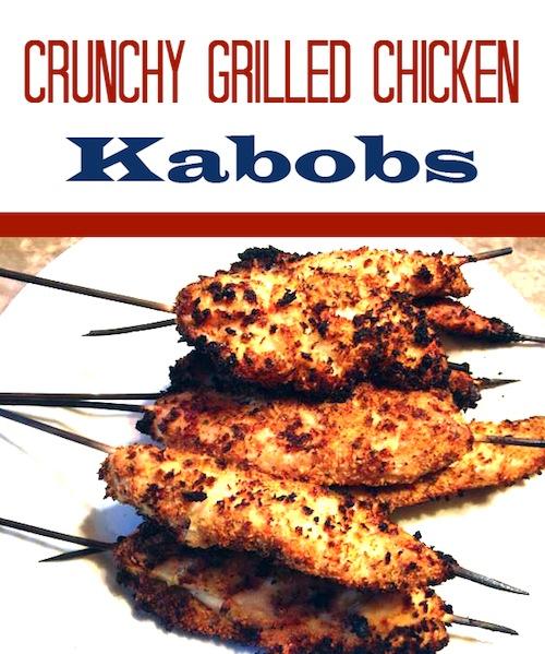 Crunchy Grilled Chicken Kabobs recipe