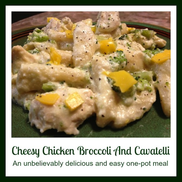 Cheesy Chicken Broccoli And Cavatelli Recipe For The Ninja Cooking System