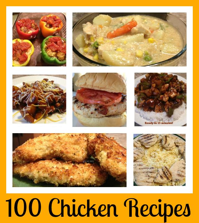 100 chicken recipes - National Chicken Month