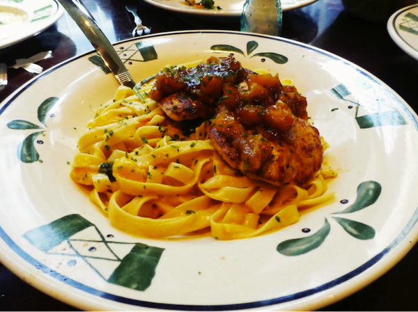 Tasting At Olive Garden, Times Square, NY