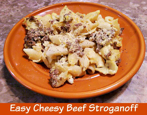 Easy Cheesy Beef Stroganoff Recipe