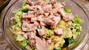 Chicken Broccoli Rice microwave meal