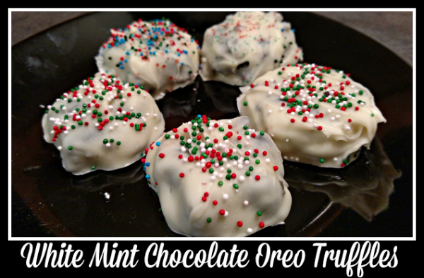 White Mint Chocolate Oreo Truffles