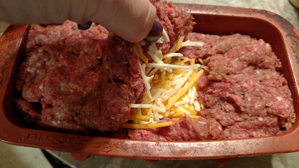 Gluten-free Bacon Wrapped 4-Cheese Stuffed Meatloaf Recipe