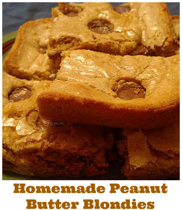Homemade Peanut Butter Blondies Recipe