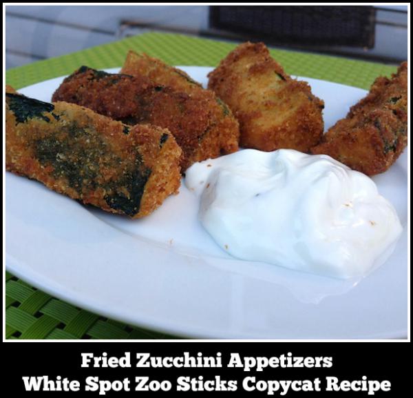 Fried Zucchini Appetizers - A White Spot Zoo Sticks Copycat Recipe