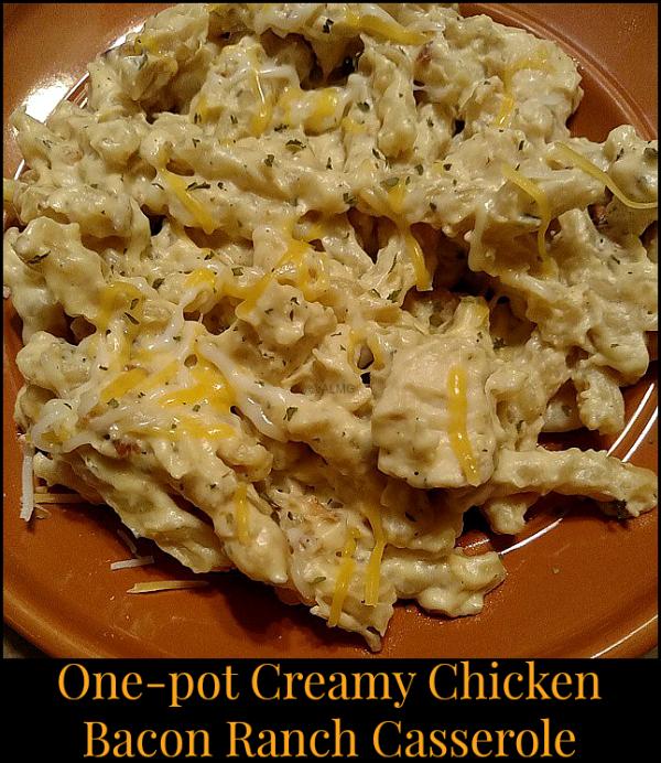 One-pot Creamy Chicken Bacon Ranch Casserole