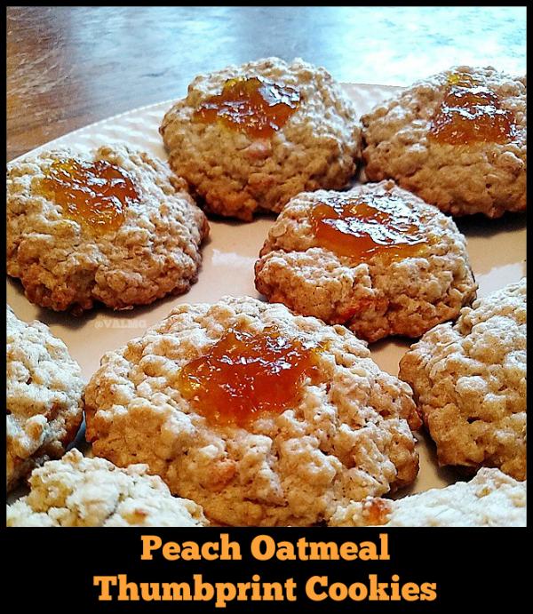 Easy Peach Oatmeal Thumbprint Cookies Recipe