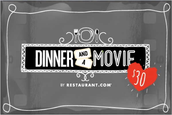 Valentine's Day Dinner And A Movie Deal From Restaurant.com
