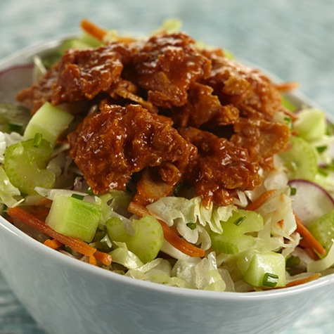 Crunchy Coleslaw Salad with Sweet and Spicy Salmon recipe