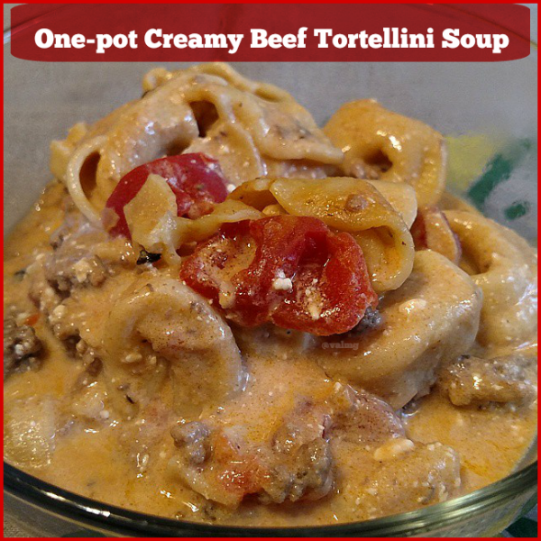 One-Pot Creamy Beef Tortellini Soup recipe