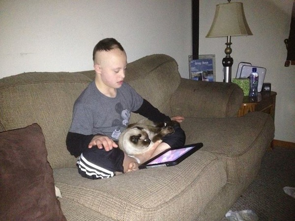 CJ with Jules during Hurricane Sandy
