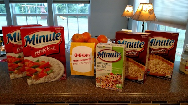 Minute Rice #MinuteMeals event #sponsored