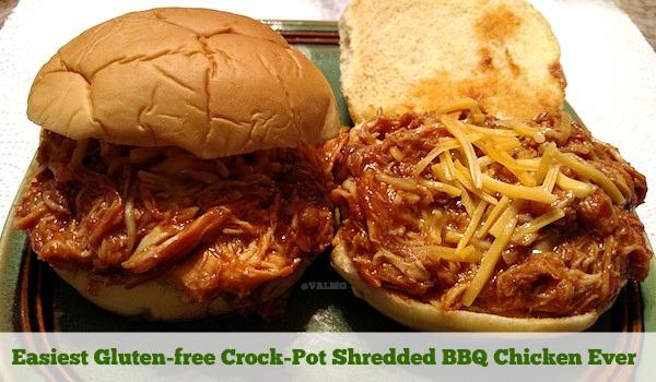 Easiest Gluten-free Crock-Pot Shredded BBQ Chicken Ever Recipe - From Val's Kitchen