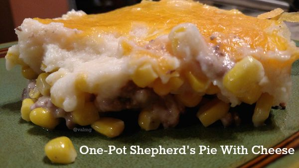 One-Pot Shepherds Pie With Cheese Recipe - From Val's Kitchen