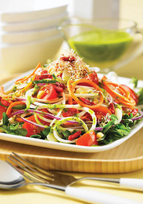 Kaleidoscope Salad Recipe from 150 Best Spiralizer Recipes