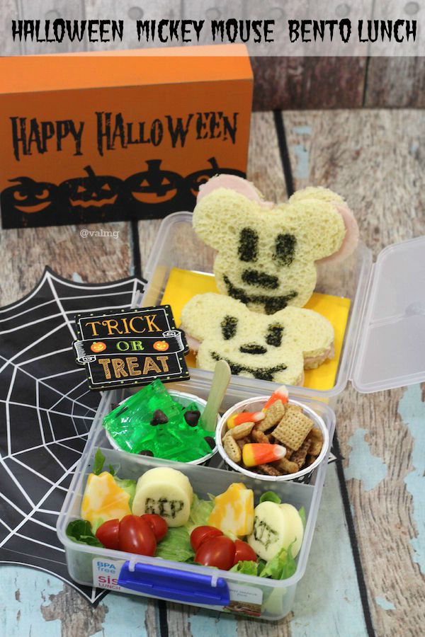 How To Make A Halloween Mickey Mouse Bento Lunch - From Val's Kitchen