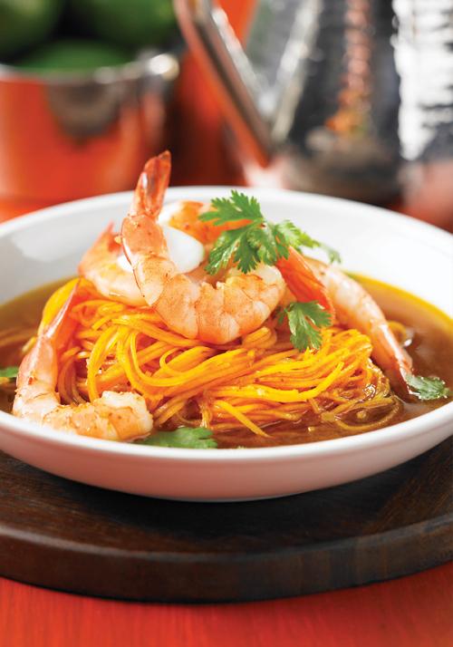 Zesty Shrimp and Squash Vermicelli Soup Recipe