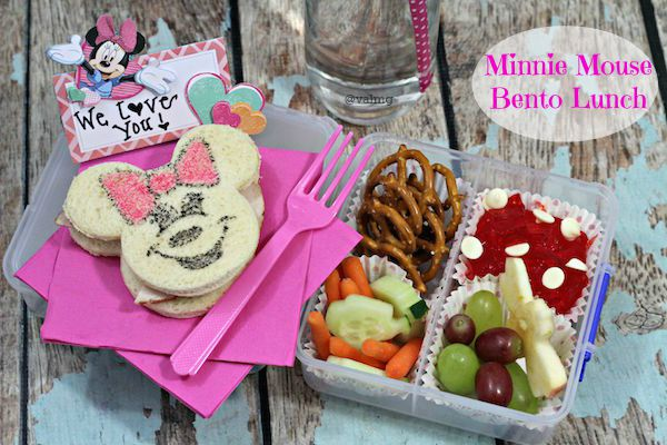 How To Make A Minnie Mouse Bento Lunch For Kids