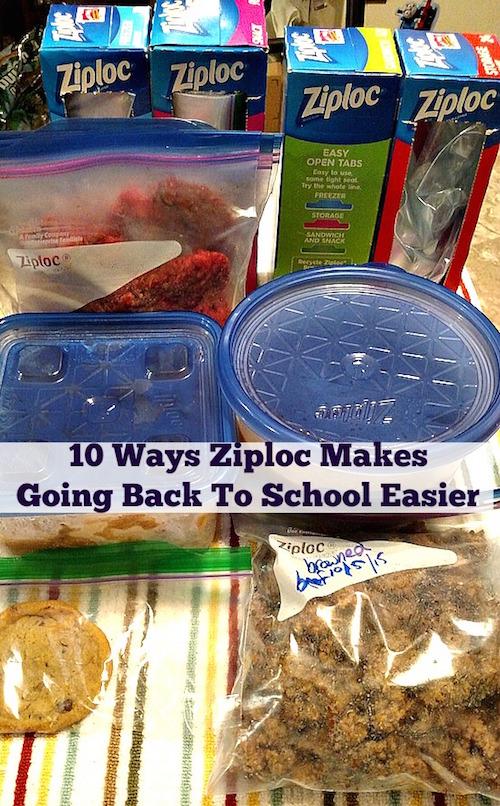 10 Ways Ziploc Makes Going Back To School Easier
