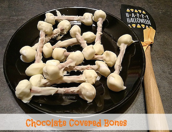 Recipe How To Make Chocolate Covered Bones For Halloween - From Val's Kitchen