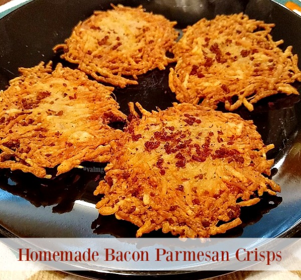 Homemade Bacon Parmesan Crisps Recipe - From Val's Kitchen
