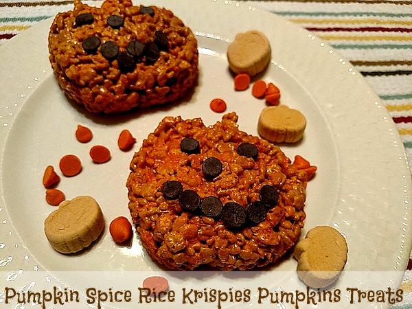 How To Make Pumpkin Spice Rice Krispies Pumpkins Treats