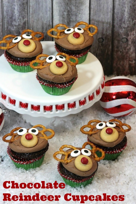 Chocolate Reindeer Cupcakes - From Val's Kitchen