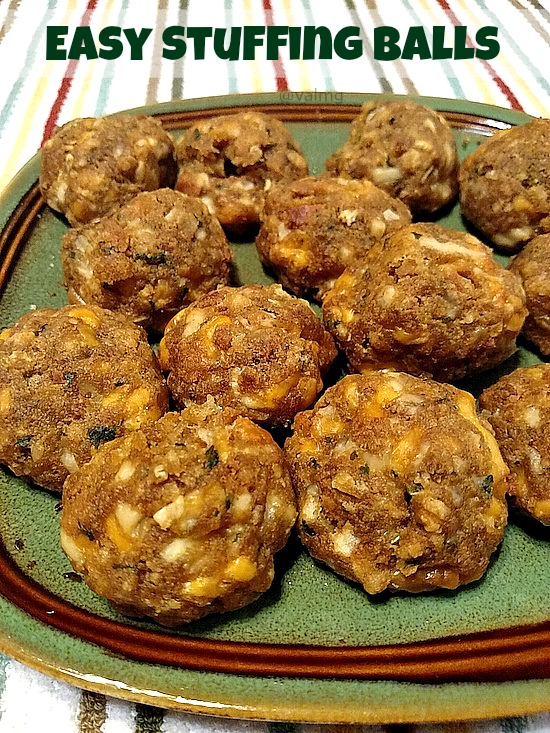 Easy Stuffing Balls Recipe - From Val's Kitchen