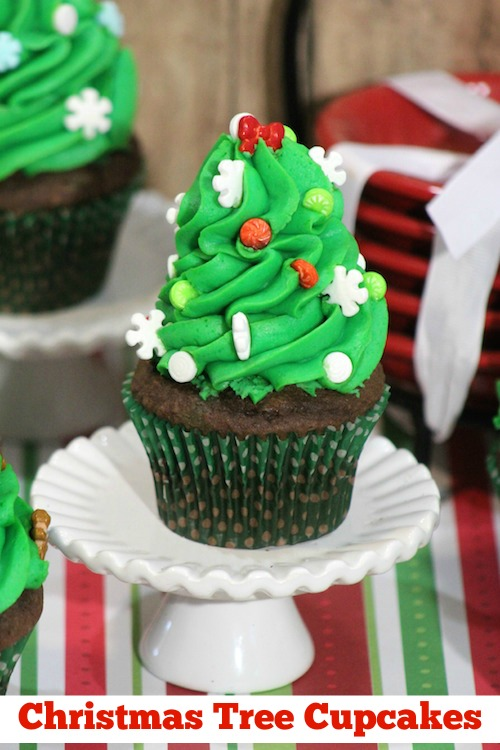 Christmas Tree Cupcakes Recipe - From Val's Kitchen