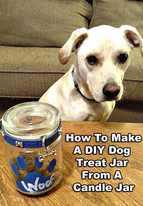 How To Make A DIY Dog Treat Jar From A Candle Jar – #NaturalBalance Wild Pursuit