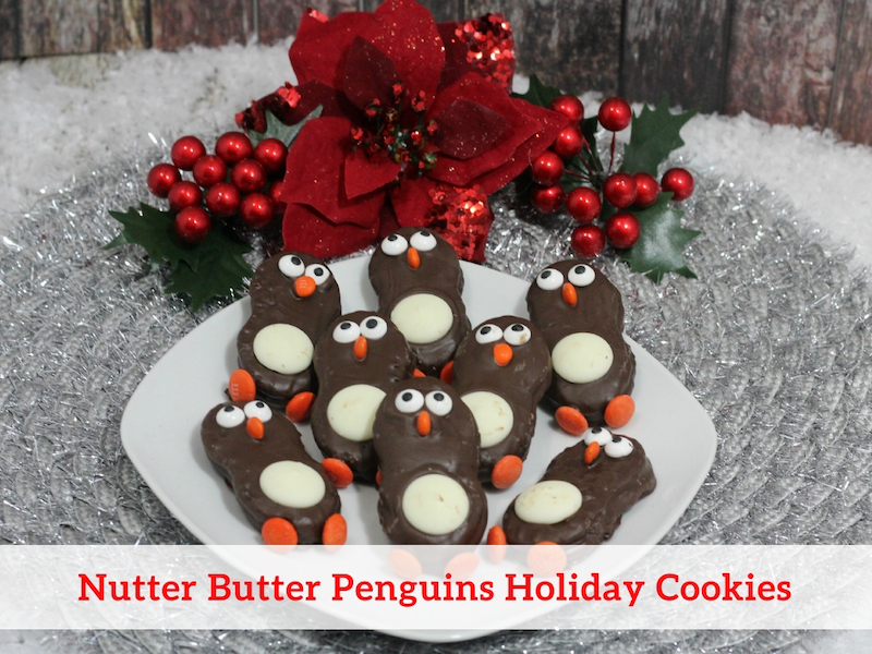 Nutter Butter Penguins Holiday Cookies