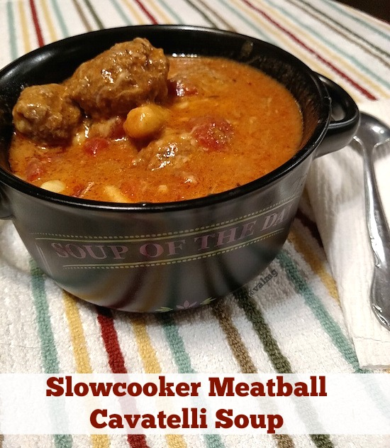 Slowcooker Meatball Cavatelli Soup Recipe From Val S