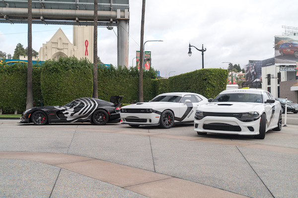 Specially Wrapped Star Wars Stormtrooper-Themed Dodge and Viper Vehicles