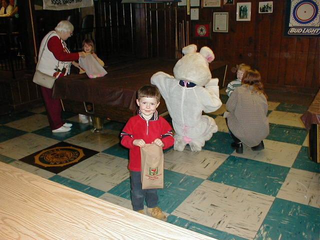 TJ at Easter egg hunt 1999