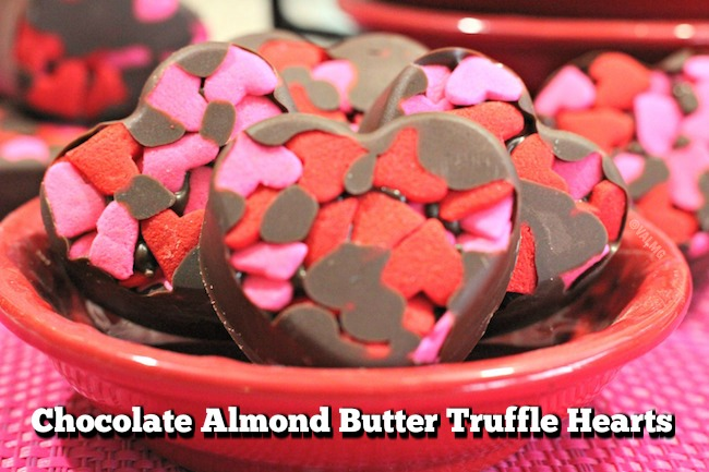 Chocolate Almond Butter Truffle Hearts Recipe From Val's Kitchen For Valentine's Day