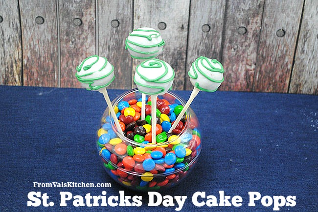 St. Patricks Day Cake Pops Recipe - From Val's Kitchen
