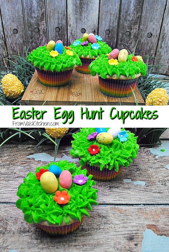 Easter Egg Hunt Cupcakes Recipe - Fromn Val's Kitchen