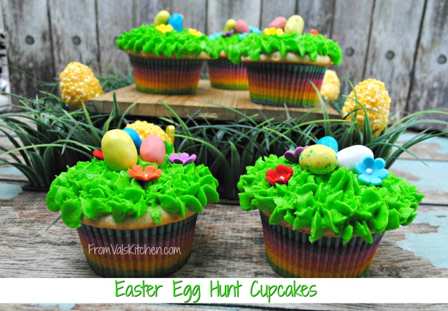Easter Egg Hunt Cupcakes Recipe - From Val's Kitchen