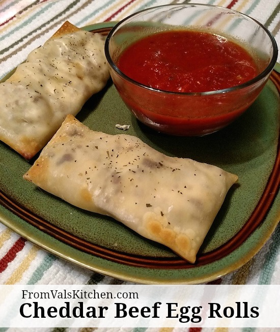 Cheddar Beef Egg Roll Recipe - From Val's Kitchen